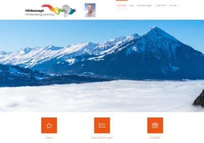 """Die Webseite von """"Hörkonzept Hörberatung Losensky"""" wurde aufgeschaltet!"""