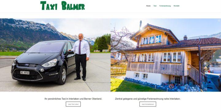 """""""Taxi Balmer"""" hat eine neue Webseite!"""